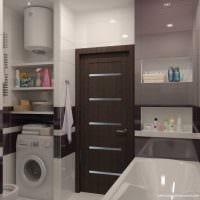 вариант современного дизайна ванной 4 кв.м картинка