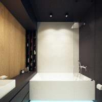 идея необычного интерьера ванной комнаты 6 кв.м картинка