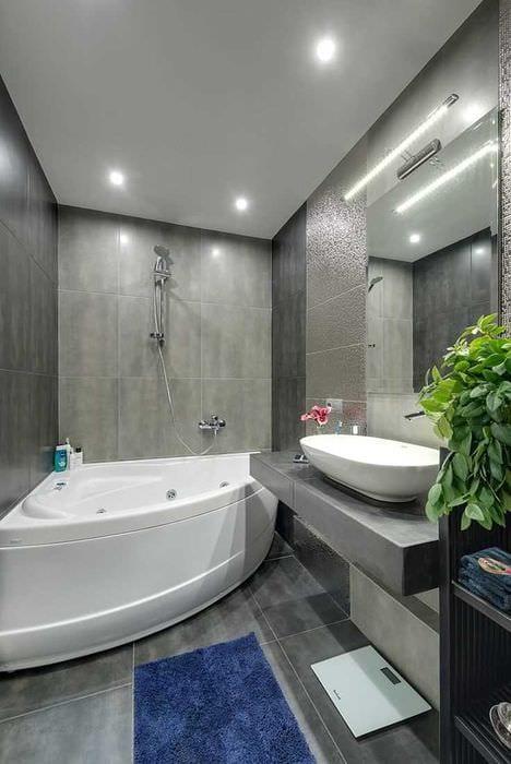 идея необычного дизайна ванной 6 кв.м
