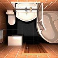 вариант необычного интерьера ванной комнаты 3 кв.м фото