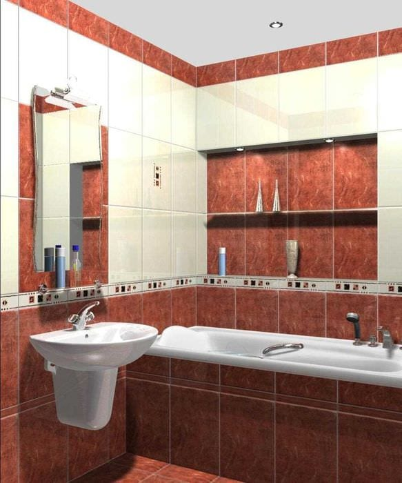 вариант необычного интерьера ванной комнаты 3 кв.м