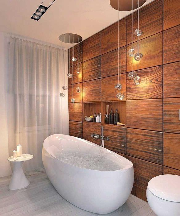 идея яркого интерьера ванной 6 кв.м