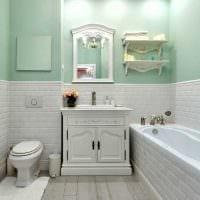 идея красивого декора ванной в классическом стиле фото