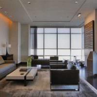 идея необычного интерьера зала в частном доме фото