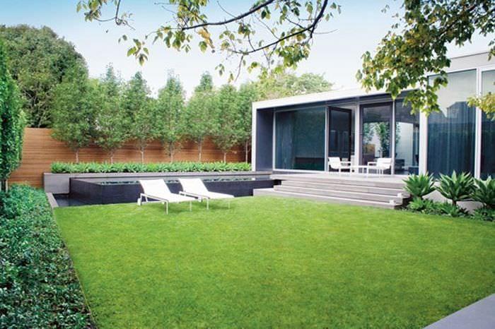 пример красивого ландшафного дизайна частного двора