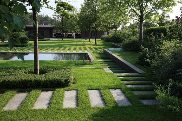 идея необычного ландшафного дизайна сада