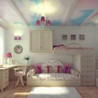 вариант необычного декора детской комнаты для девочки фото