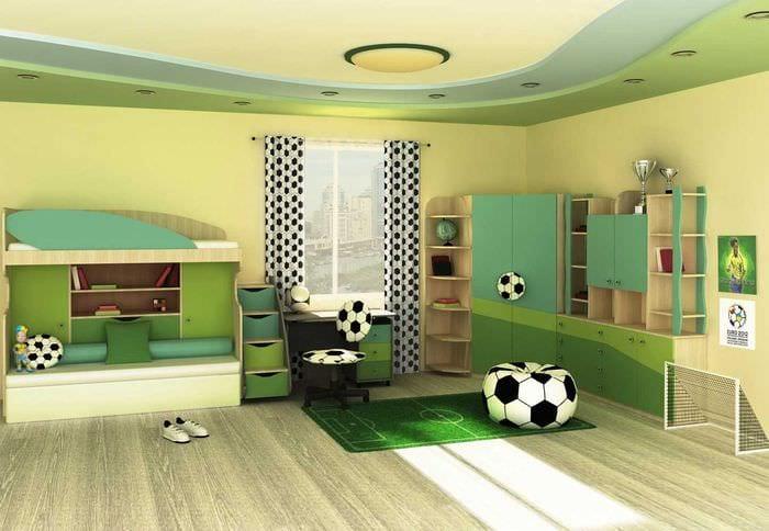 Детская комната для мальчика дизайн фото в 9