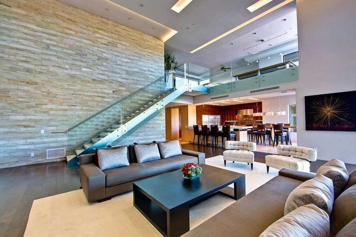идея яркого дизайна дома со вторым светом