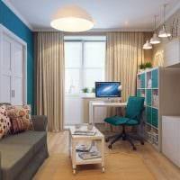 вариант яркого дизайна гостиной 16 кв.м фото