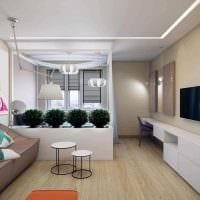 пример необычного интерьера гостиной комнаты 25 кв.м фото