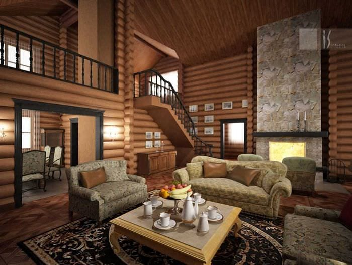 вариант необычного дизайна квартиры со вторым светом