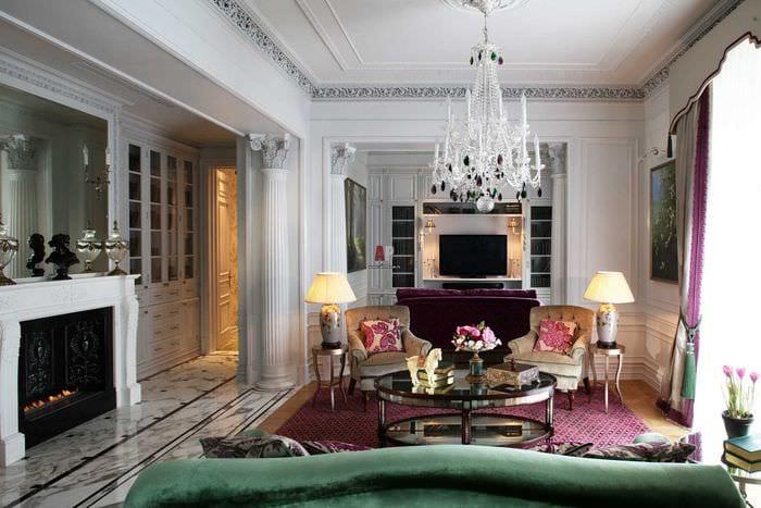 вариант светлого дизайна квартиры в стиле современная классика