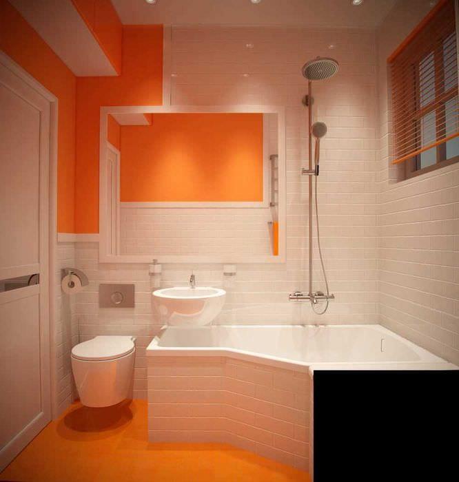 идея современного стиля ванной 2.5 кв.м