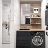 вариант красивого стиля ванной комнаты 2017 картинка
