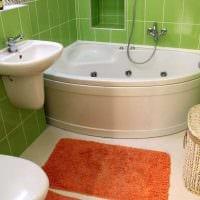 вариант современного дизайна ванной комнаты 3 кв.м фото