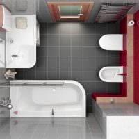 вариант современного стиля ванной 6 кв.м фото