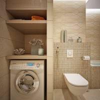 идея красивого дизайна ванной комнаты 6 кв.м фото