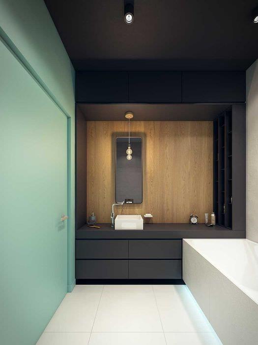 вариант красивого дизайна ванной 6 кв.м