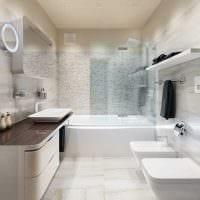 вариант необычного дизайна ванной 6 кв.м картинка