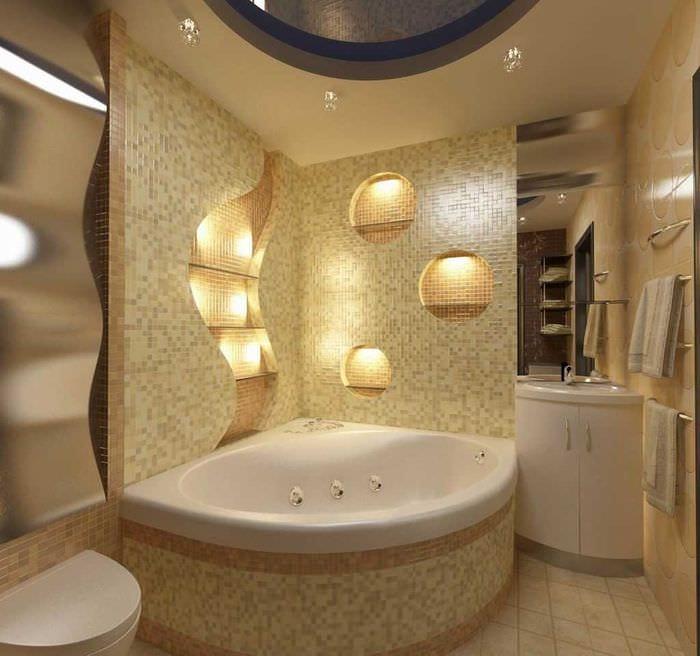 Дизайн ванной комнаты фото 2018 современные идеи ванна угловая