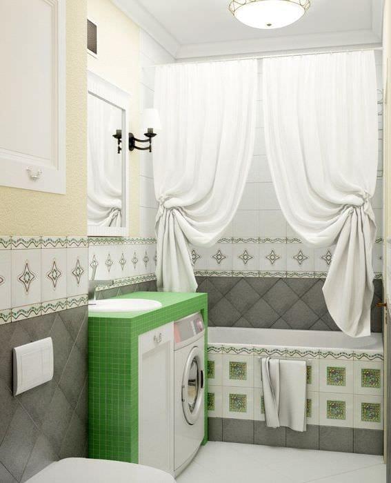 пример красивого дизайна ванной комнаты в хрущевке