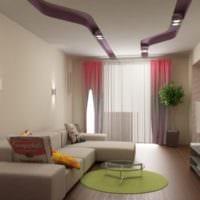 дизайн гостиной 18 квадратных метров с высокими потолками