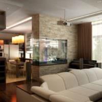 дизайн гостиной 18 квадратных метров в студии