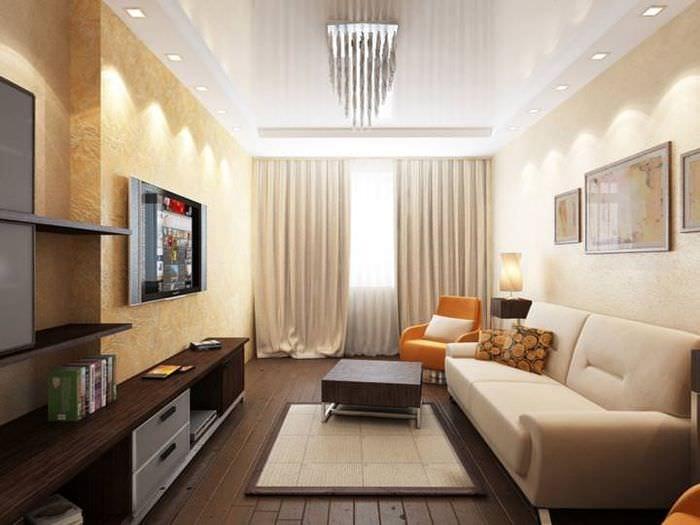 75 оригинальных идей современного интерьера гостиной 18 кв