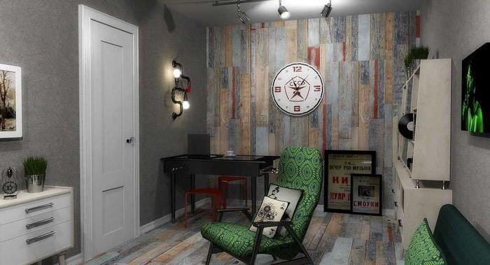 идея яркого интерьера комнаты в советском стиле