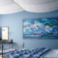 идея использования необычного голубого цвета в стиле дома картинка