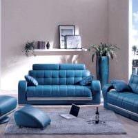 идея применения яркого голубого цвета в стиле комнаты фото