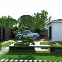 пример применения ярких растений в ландшафтном дизайне дома фото