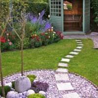 идея использования красивых растений в ландшафтном дизайне дома картинка