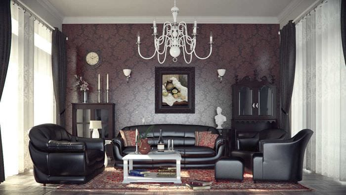 пример применения светлого декора комнаты в стиле ретро