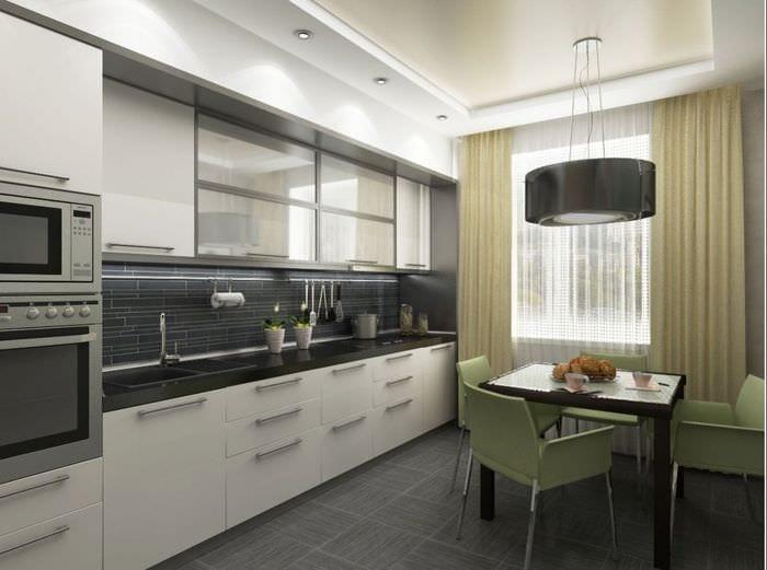 вариант применения светлого интерьера кухни