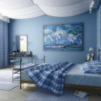 вариант применения интересного голубого цвета в стиле комнаты картинка