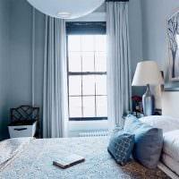 идея использования интересного голубого цвета в дизайне квартиры фото