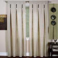 пример применения современных штор в светлом дизайне комнате картинка