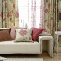вариант использования современных штор в необычном интерьере квартире фото