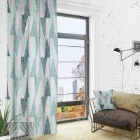 идея использования современных штор в красивом декоре комнате фото