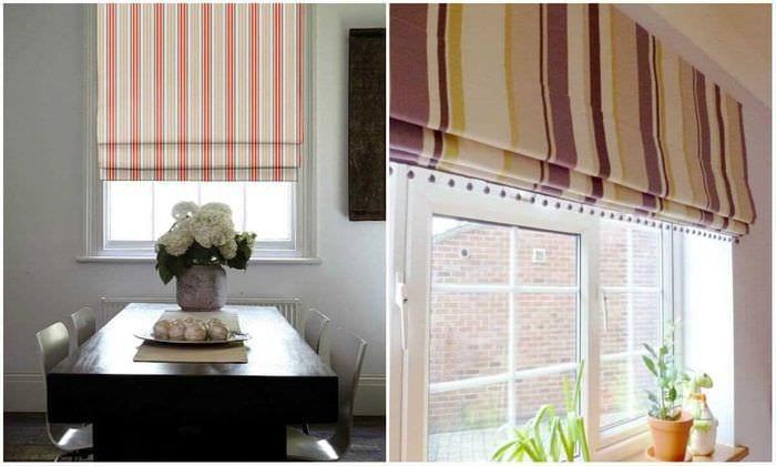 вариант использования современных штор в ярком дизайне комнате