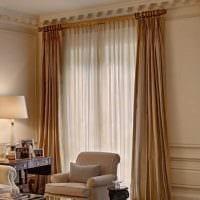 идея применения современных штор в красивом дизайне комнате фото