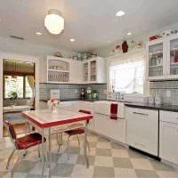 идея применения красивого декора комнаты в стиле ретро фото