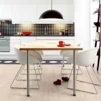 идея использования светлого ламината в красивом дизайне дома фото