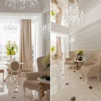 вариант использования светового дизайна в необычном декоре квартиры картинка
