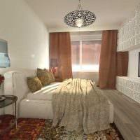 вариант использования светового дизайна в необычном стиле квартиры картинка