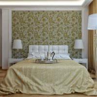 пример использования светлого дизайна комнаты в стиле ретро картинка