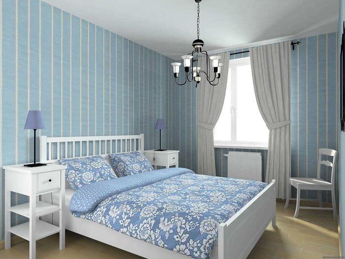 идея использования яркого голубого цвета в дизайне комнаты