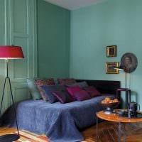 идея использования интересного голубого цвета в стиле дома фото
